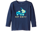 Life is Good Kids Get Dirty Truck Long Sleeve Crusher Tee (Toddler)