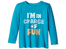 Life is Good Kids I'm In Charge Of Fun Long Sleeve Crusher Tee (Toddler)