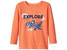 Life is Good Kids Explore Plane Long Sleeve Crusher Tee (Toddler)