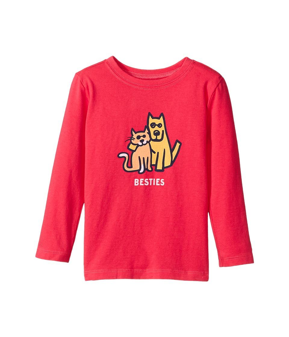 Life is Good Kids - Besties Cat And Dog Long Sleeve Crusher Tee