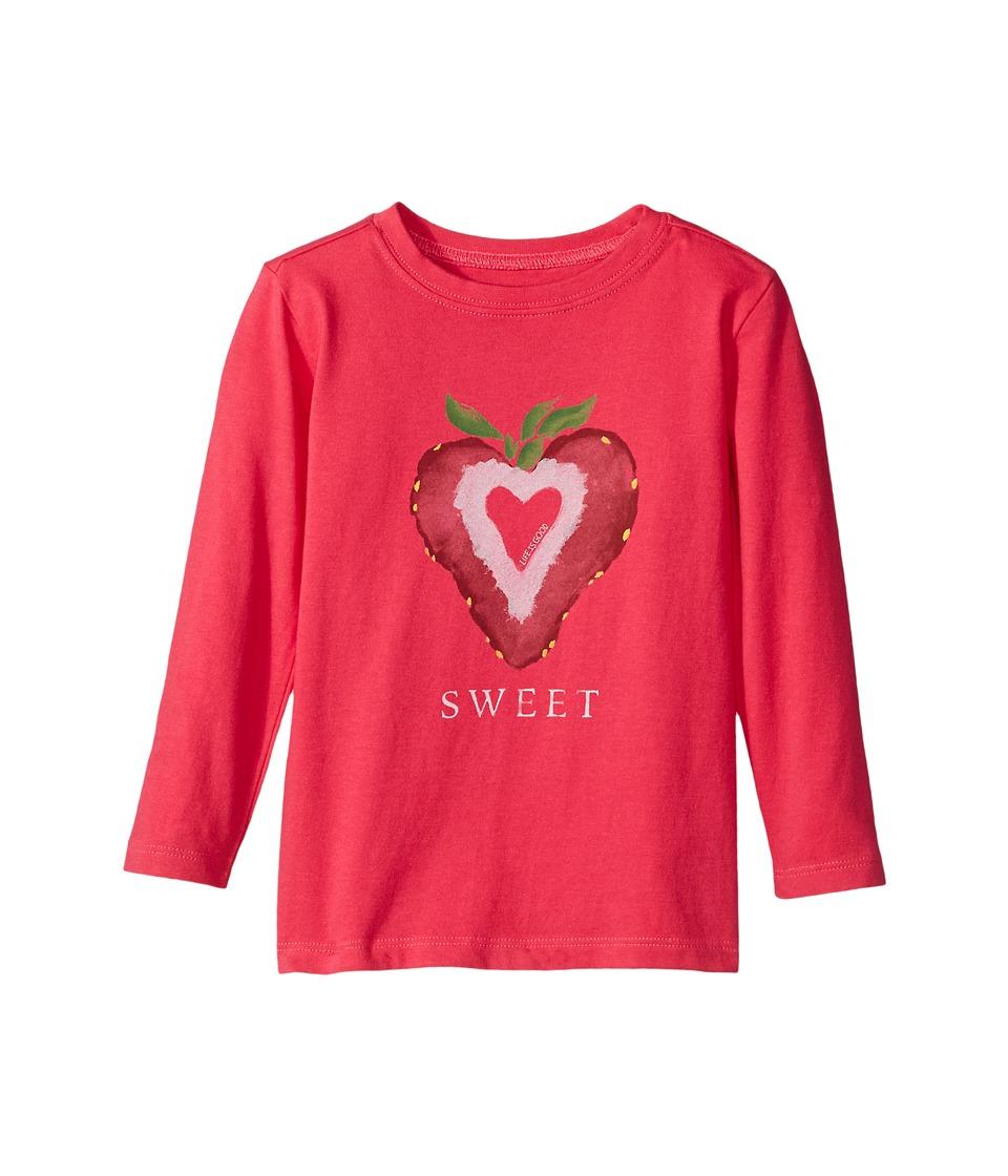 Life is Good Kids - Sweet Strawberry Long Sleeve Crusher Tee
