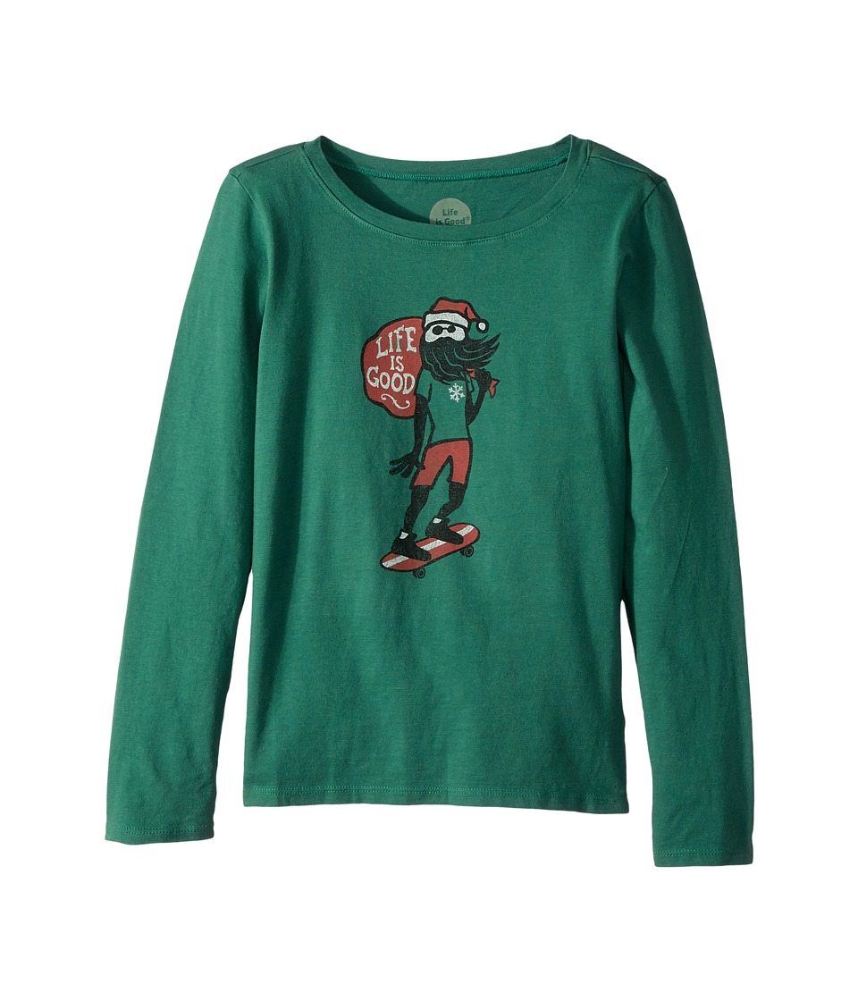 Life is Good Kids - Holiday Skater Long Sleeve Crusher Tee
