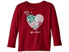 Life is Good Kids Snowflake Heart Long Sleeve Crusher Tee (Toddler)