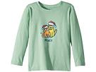 Life is Good Kids Peace Cat Dog Long Sleeve T-Shirt (Toddler)