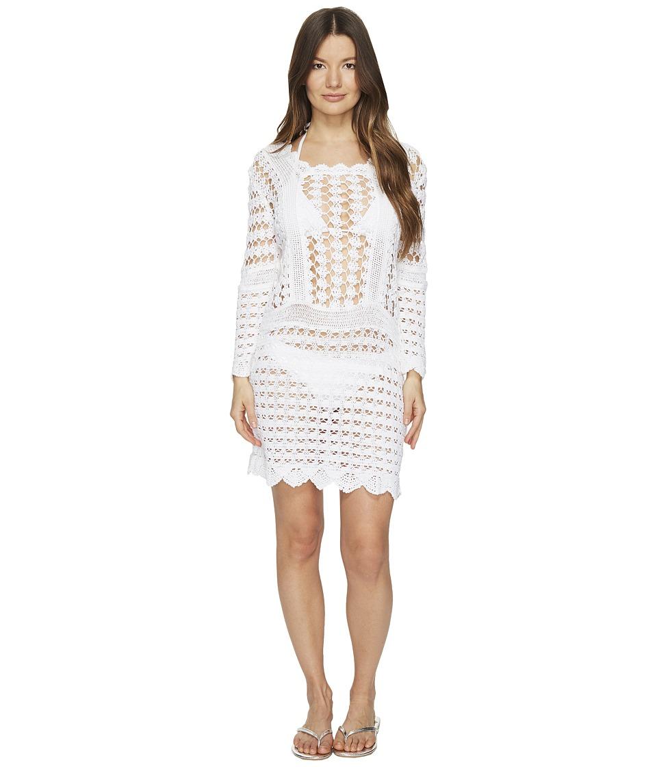 Letarte Crochet Long Sleeve Cover-Up (White) Women