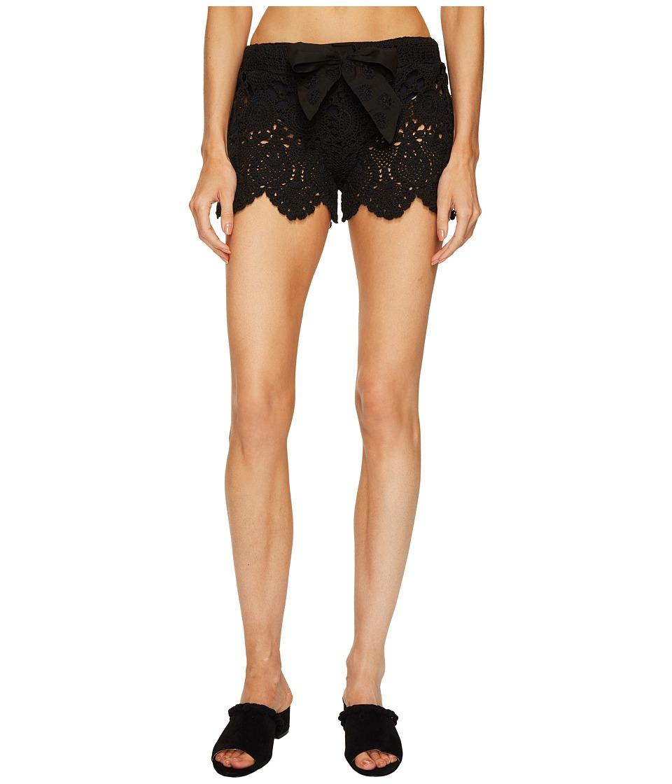 Letarte Crochet Shorts (Black) Women