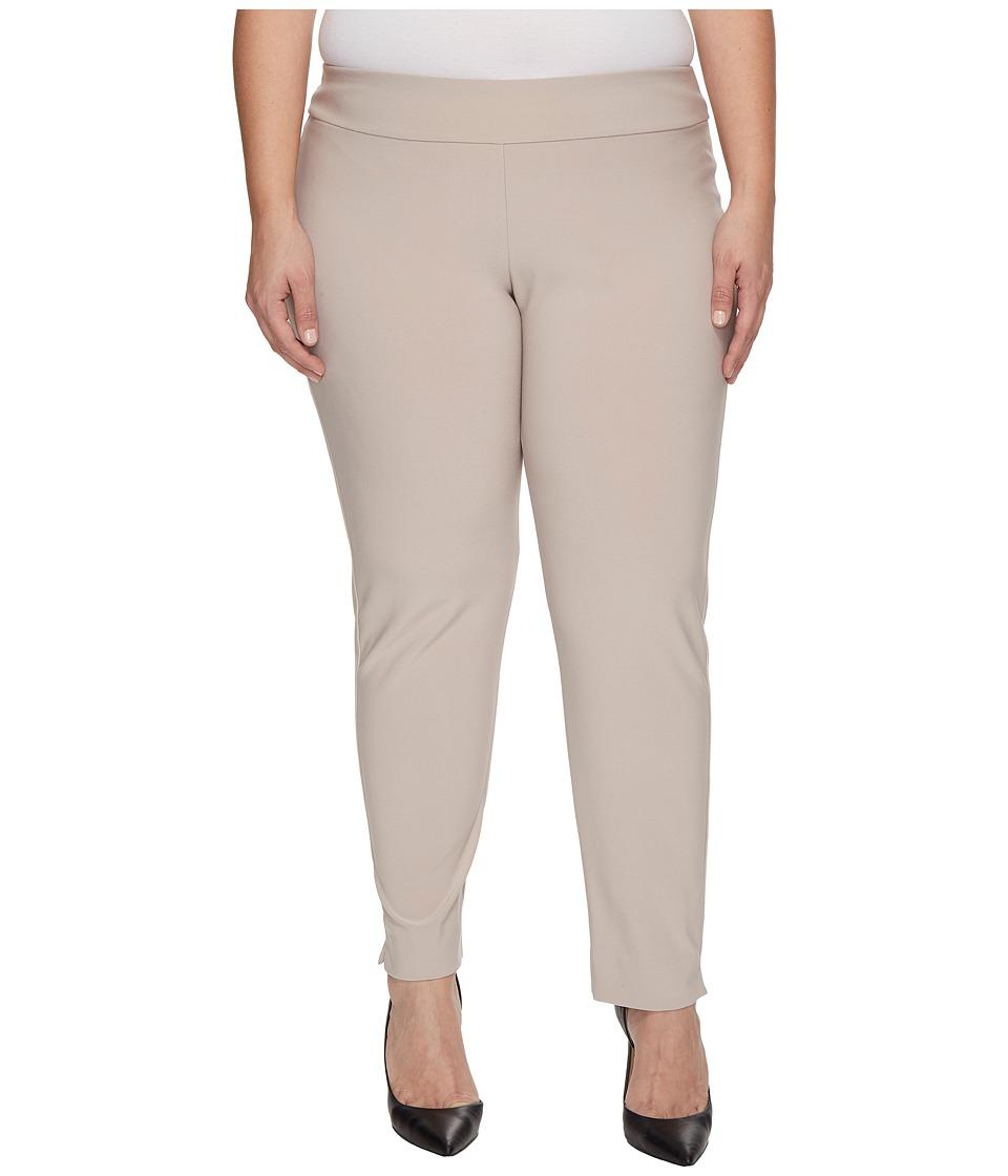 Krazy Larry - Plus Size Microfiber Long Skinny Dress Pant...