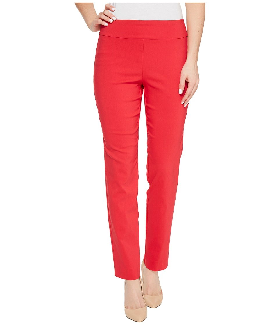 Krazy Larry Pull-On Ankle Pants (Red) Women's Dress Pants