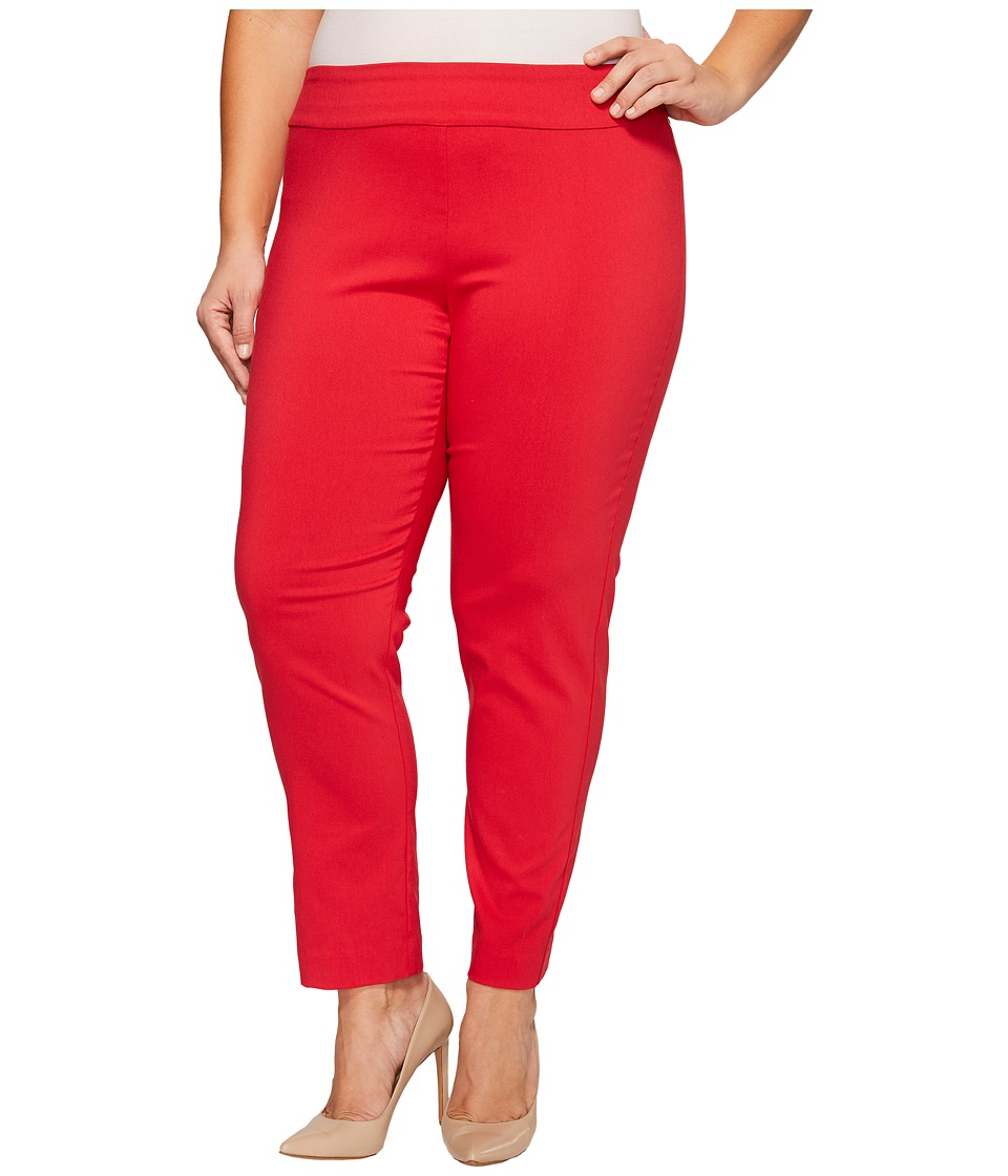 Krazy Larry - Plus Size Pull-On Ankle Pants (Red) Women's...