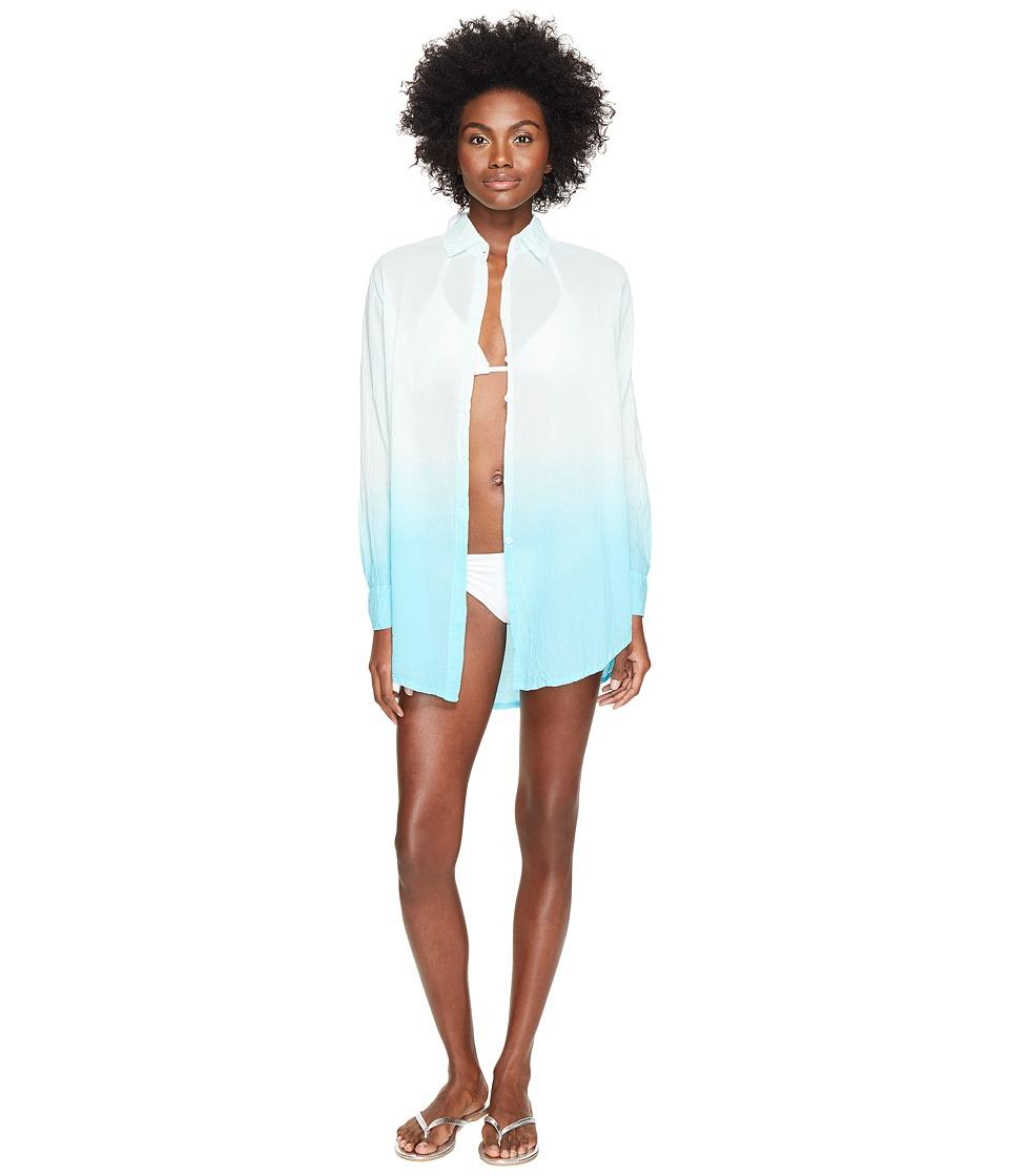 Letarte Ombre Beach Shirt (Turquoise Ocean) Women