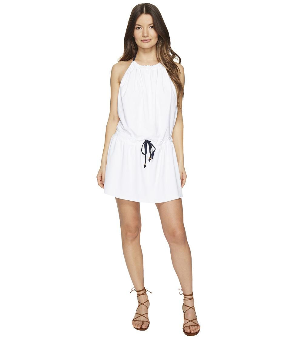 Letarte Strappy Halter Sundress (White) Women