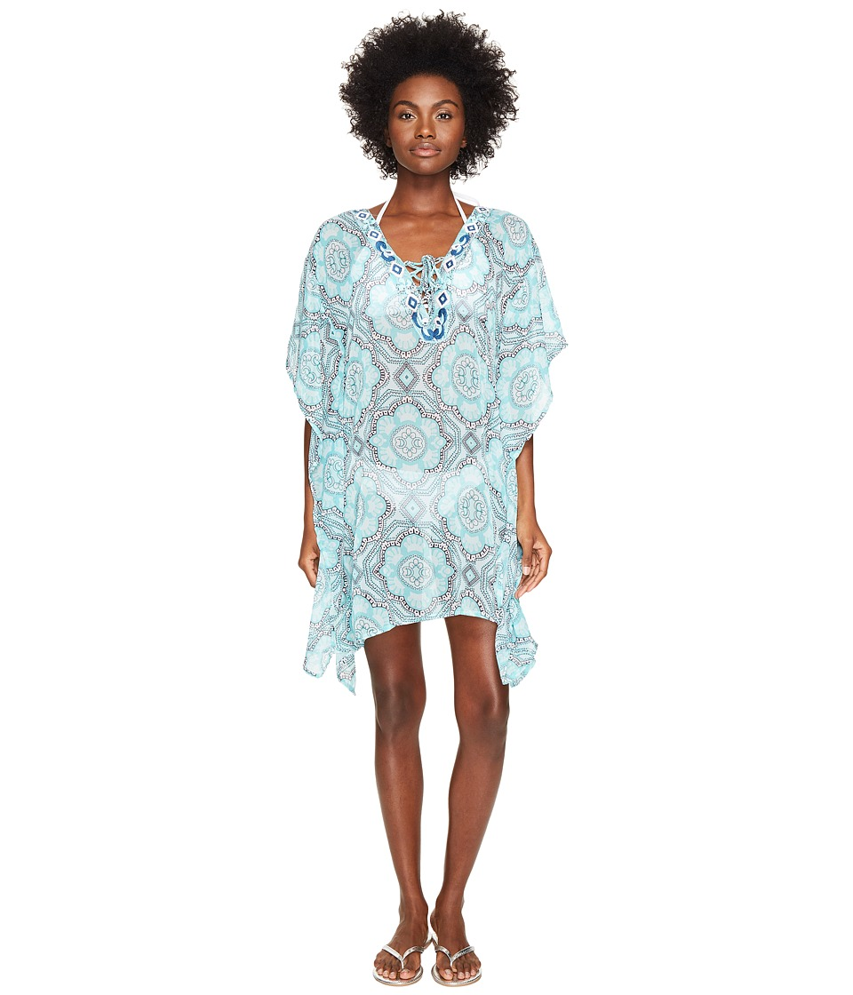 Letarte Printed Cover-Up (Turquoise Multi) Women