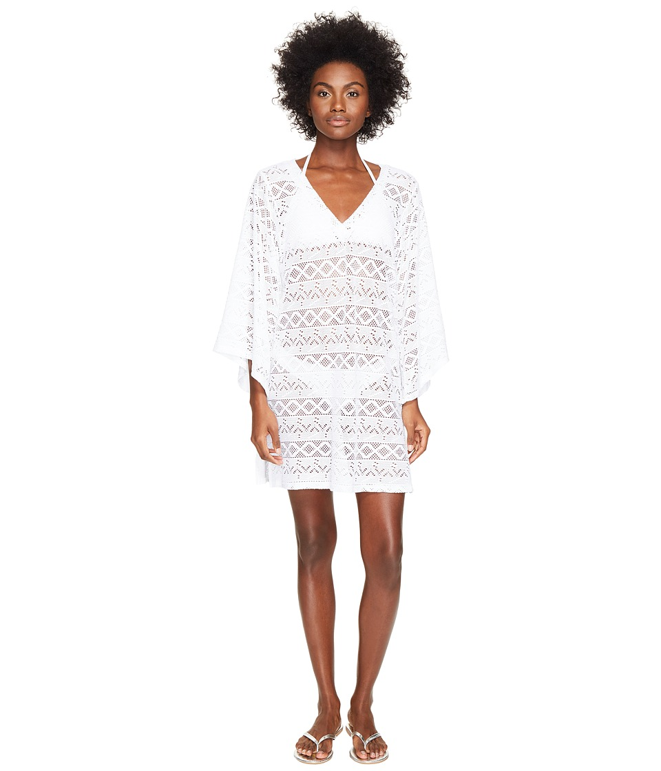 Letarte Lace V-Neck Cover-Up (White) Women