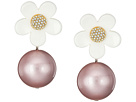 Strass Daisy Pearl Statement Drops Earrings