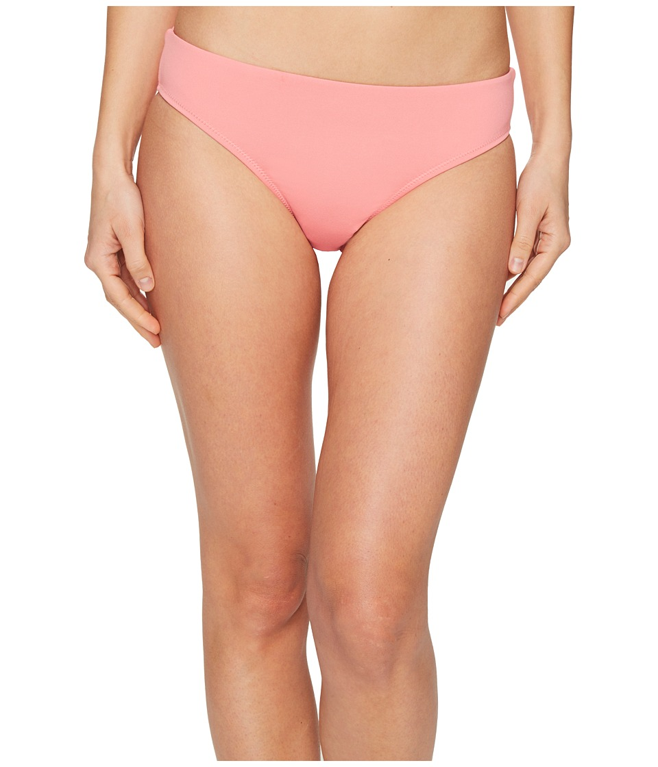 Letarte Solid Full Coverage Bikini Bottom (Pink Coral) Women