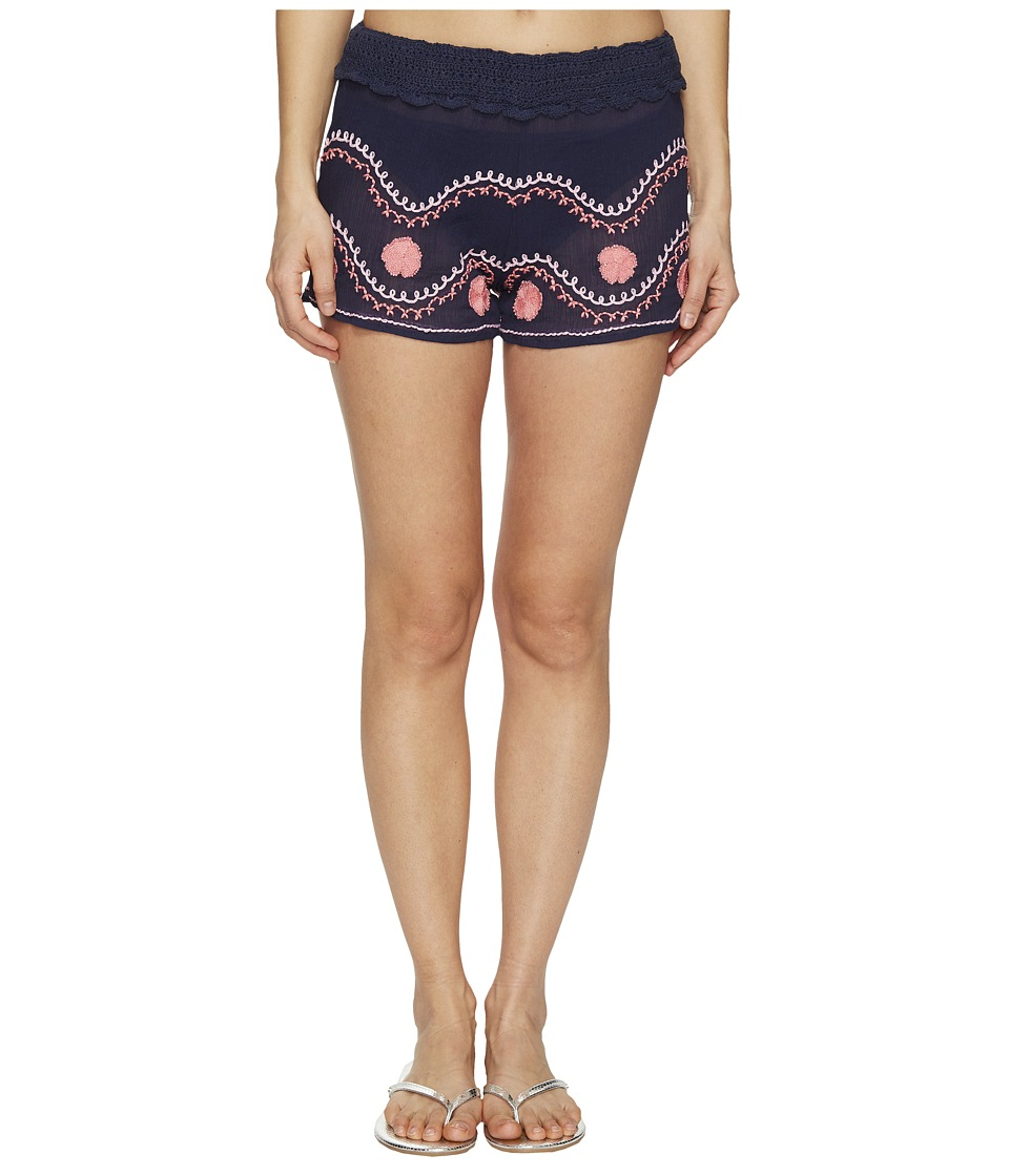 Letarte - Embroidered Beach Shorts