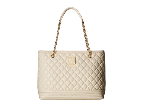 LOVE Moschino Quilted Tote with Chain