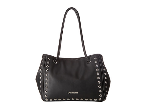 LOVE Moschino Studded Small Tote - Black