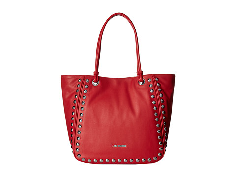 LOVE Moschino Studded Large Tote - Red