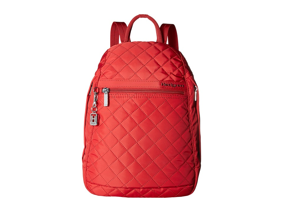 Hedgren - Diamond Pat Backpack (Red) Backpack Bags