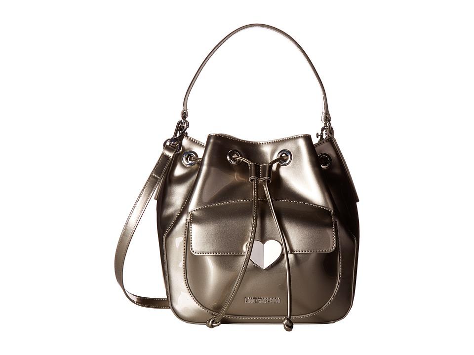 LOVE Moschino - Cut Heart Patent Bucket Bag