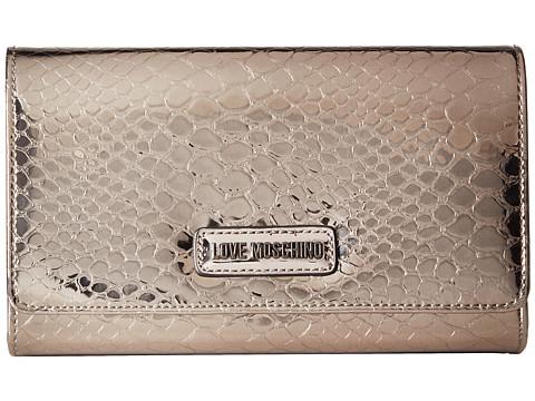 LOVE Moschino Shiny Python Evening Bag