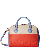 LOVE Moschino - Embossed Hi-Freq Logo Hand Bag