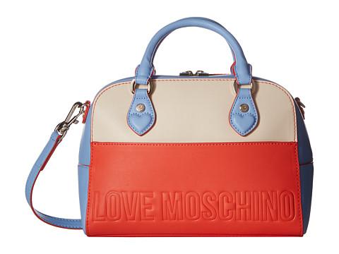 LOVE Moschino Embossed Hi-Freq Logo Hand Bag