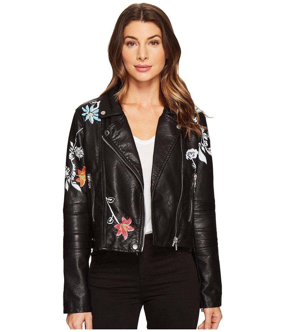 Blank NYC - Vegan Leather Graphic Moto Jacket in Secret K...