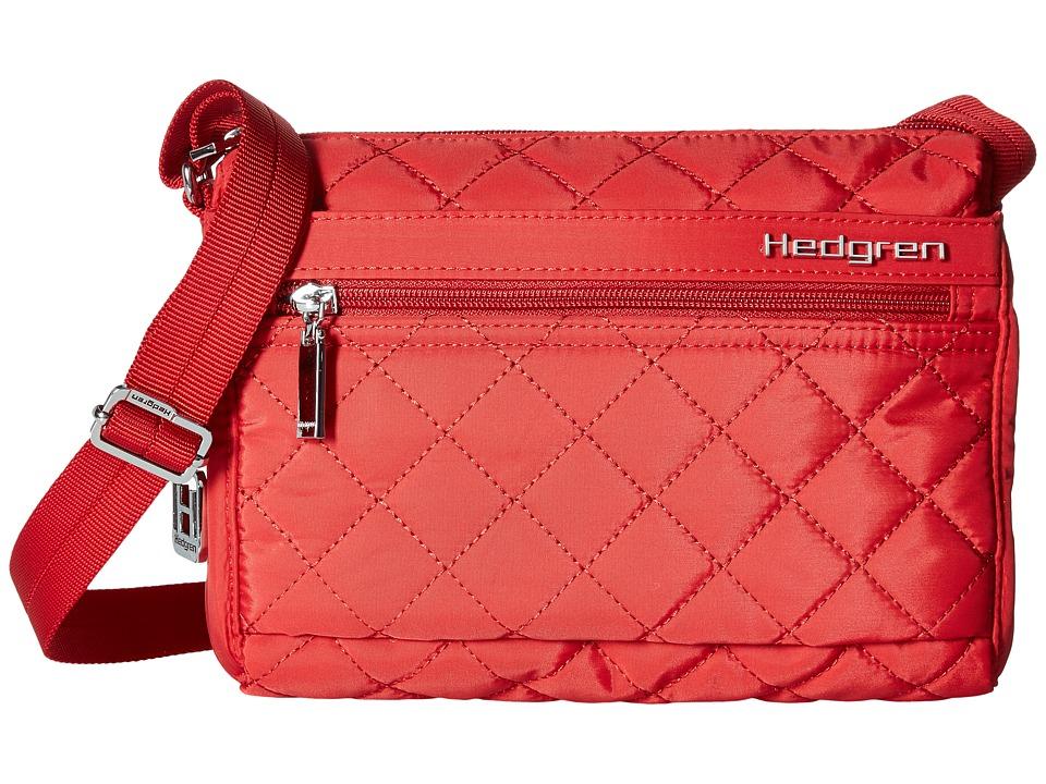 Hedgren Diamond Carina Shoulder Bag (Red) Shoulder Handbags