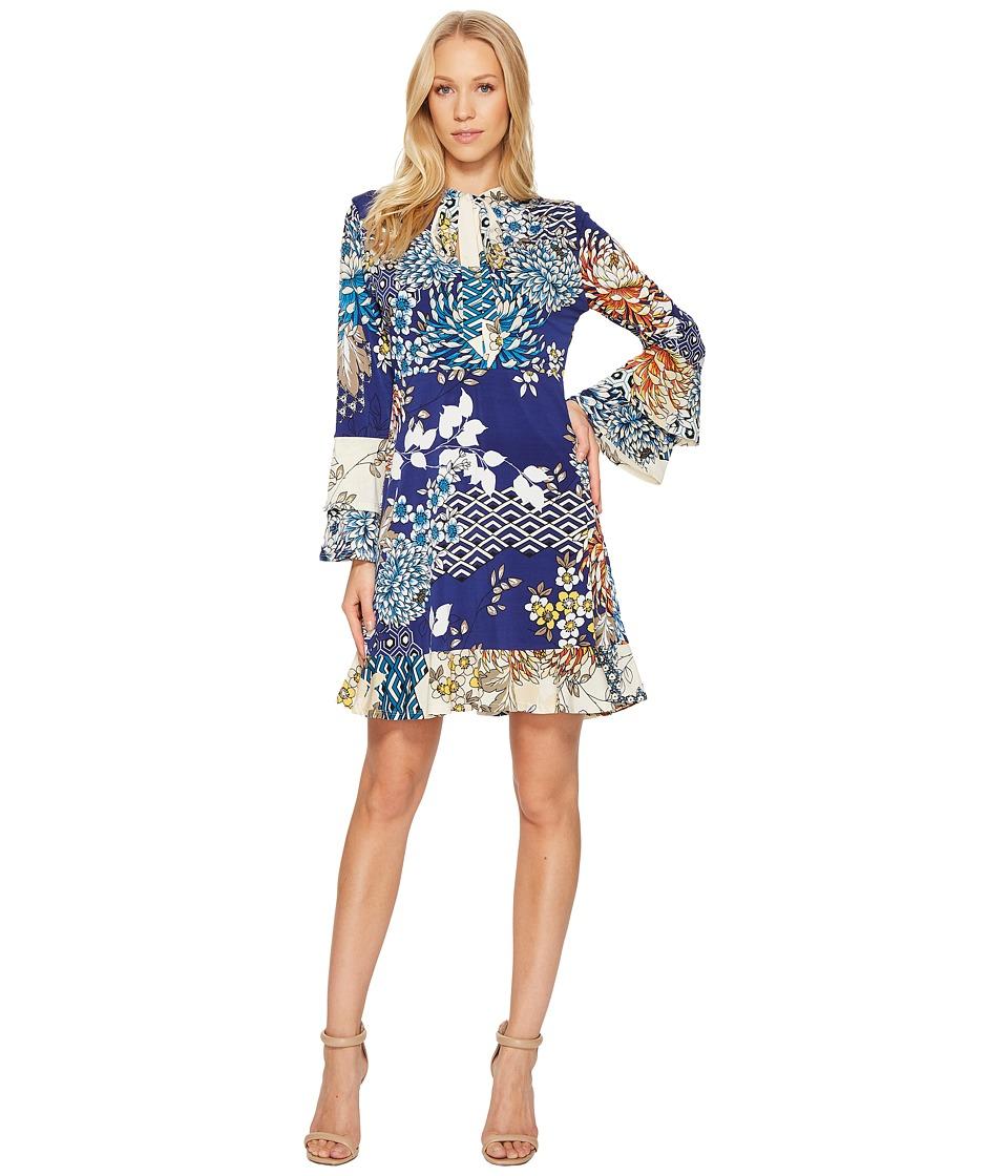 Hale Bob A Place of Zen Microfiber Jersey Dress (Navy) Women