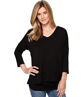Tribal - 3/4 Sleeve V-Neck Jersey Layer Top