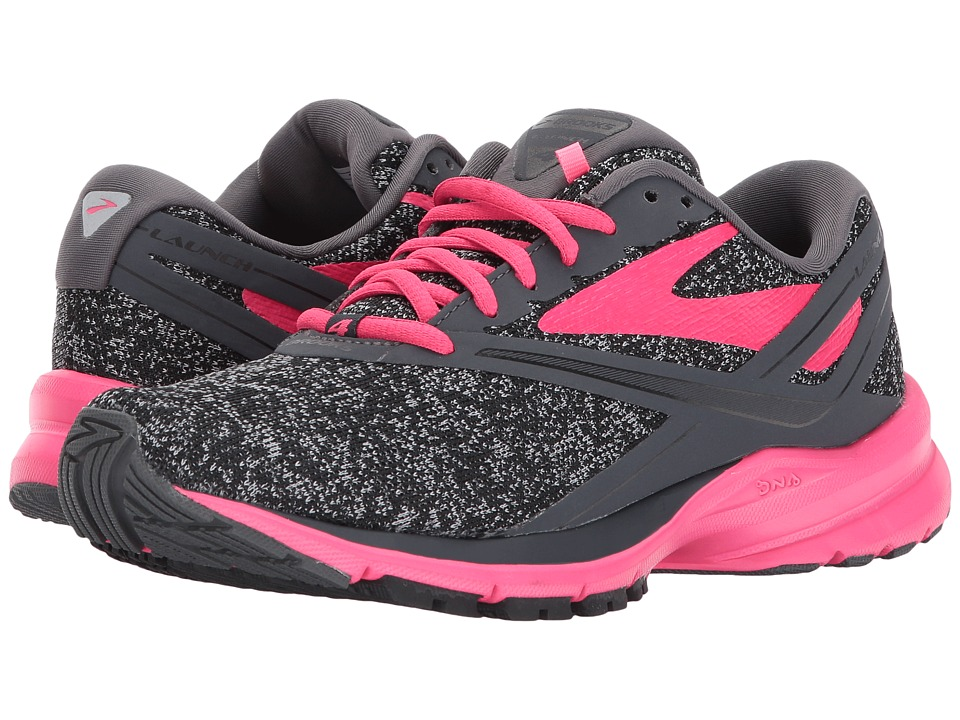 Brooks Launch 4 (Black/Grey/Pink) Women