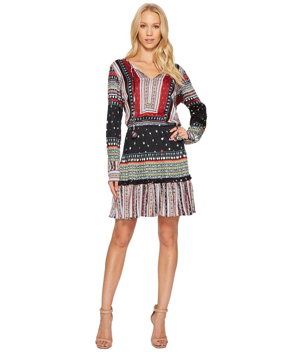 Hale Bob Heart Soul Stretch Satin Woven Dress (Cranberry) Women