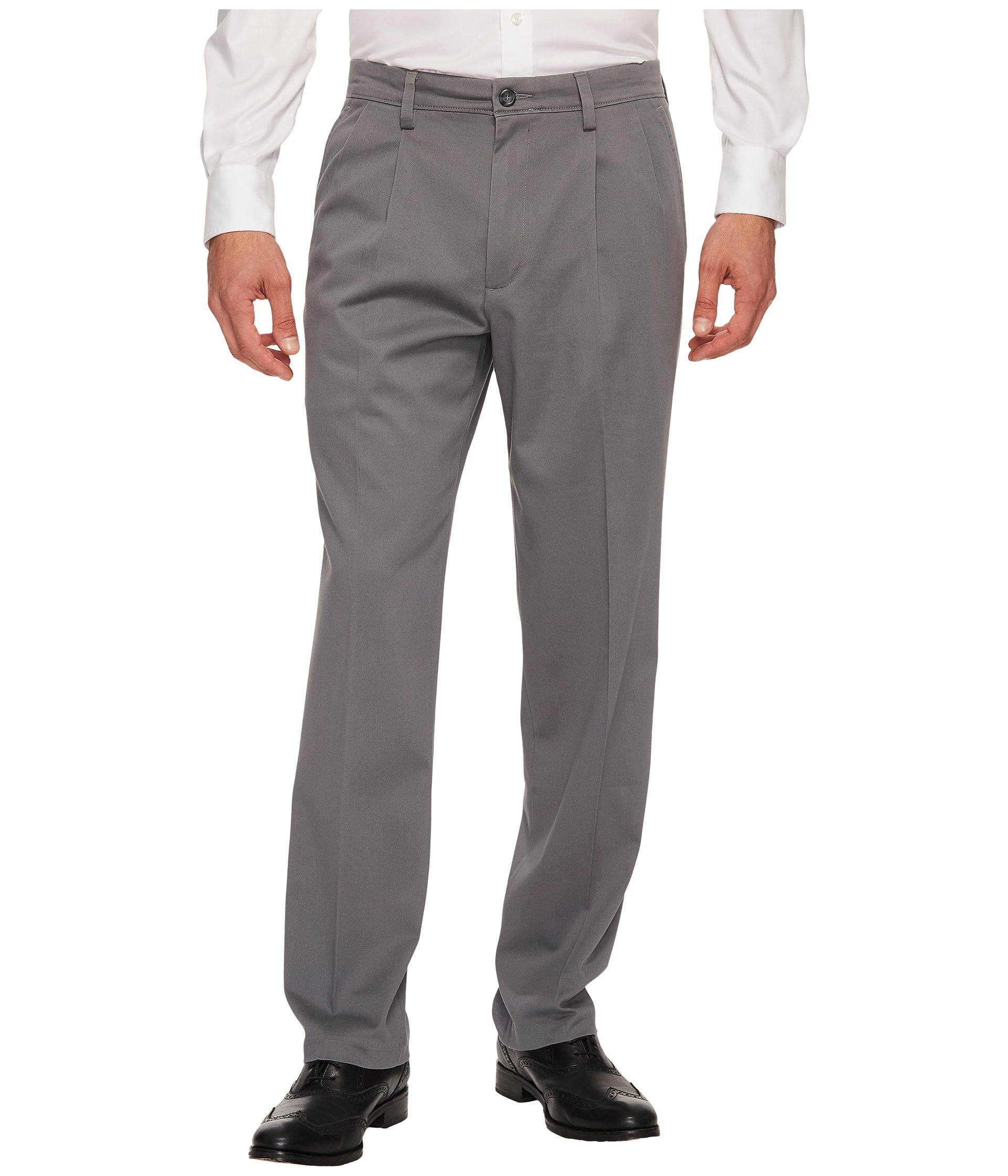 Dockers easy khaki d3 classic fit pleated pants at for Dockers wrinkle free shirts