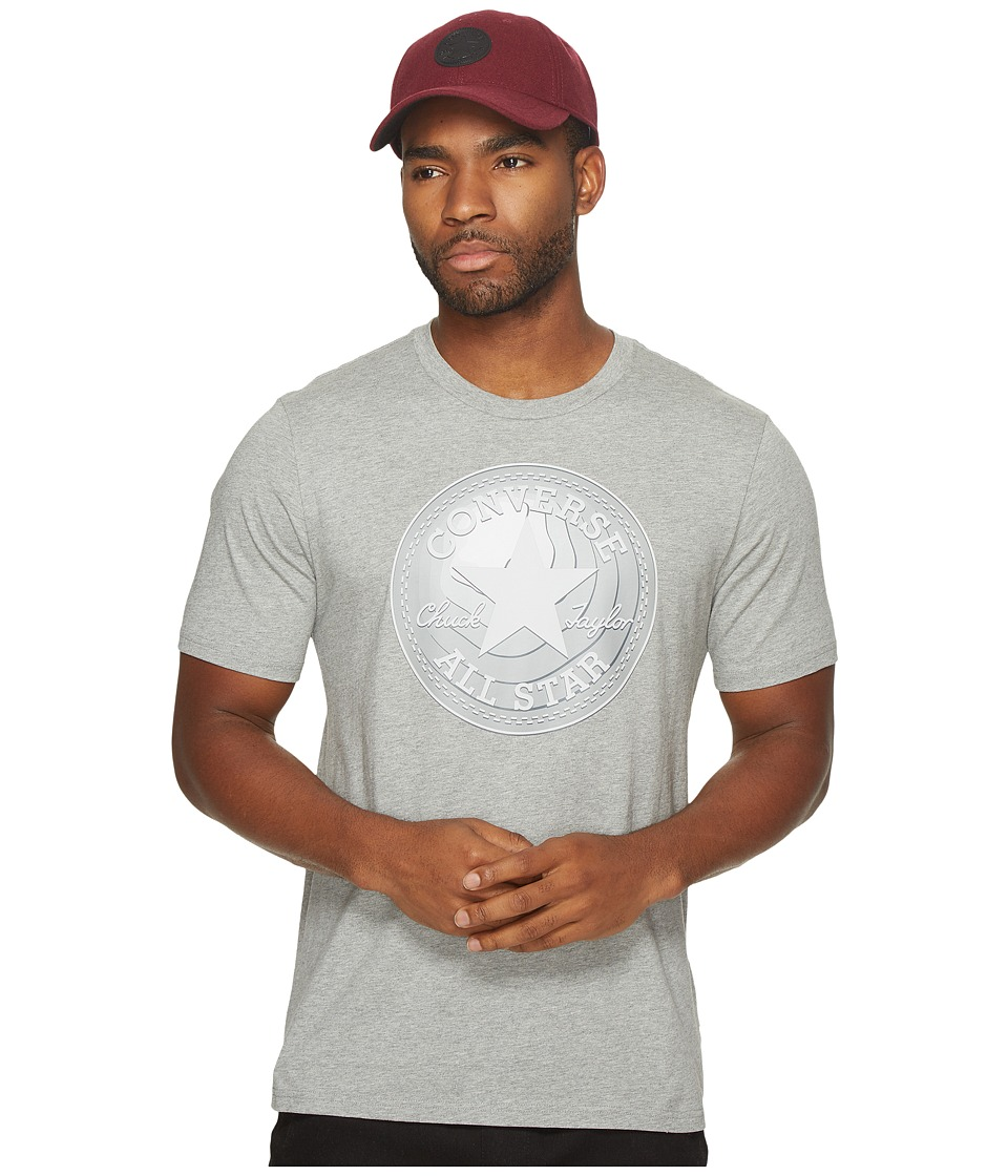 Converse Dimensional Layer Chuck Patch Short Sleeve Tee (Vintage Grey Heather) Men