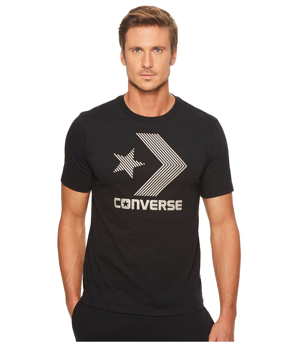 Converse Line Fill Star Chevron Short Sleeve Tee (Black) Men