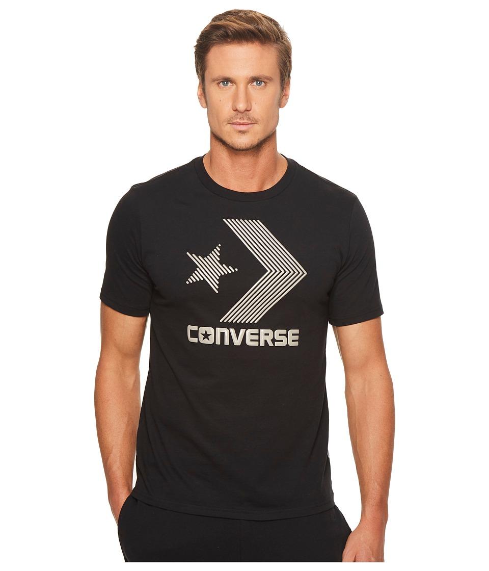 Converse Line Fill Star Chevron Short Sleeve Tee (Black) Men