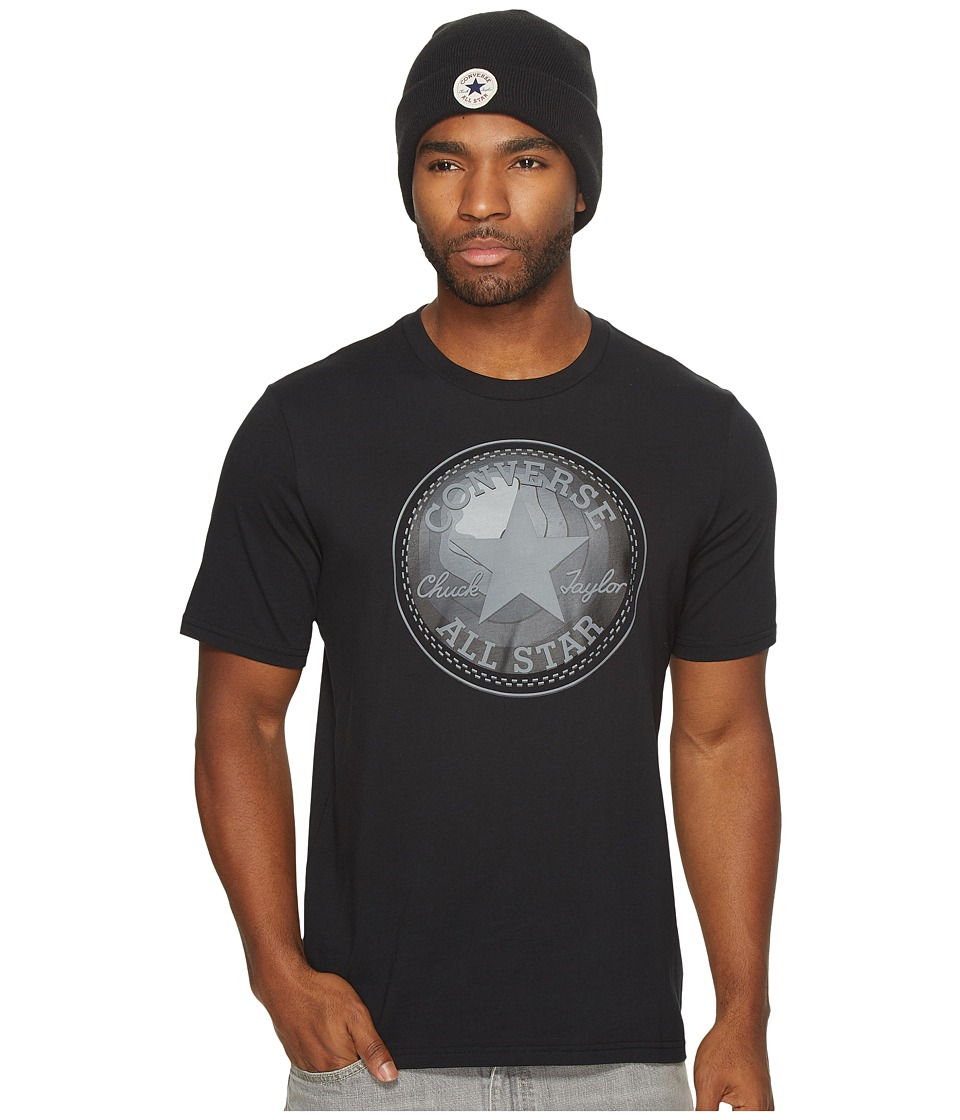 Converse Dimensional Layer Chuck Patch Short Sleeve Tee (Black) Men