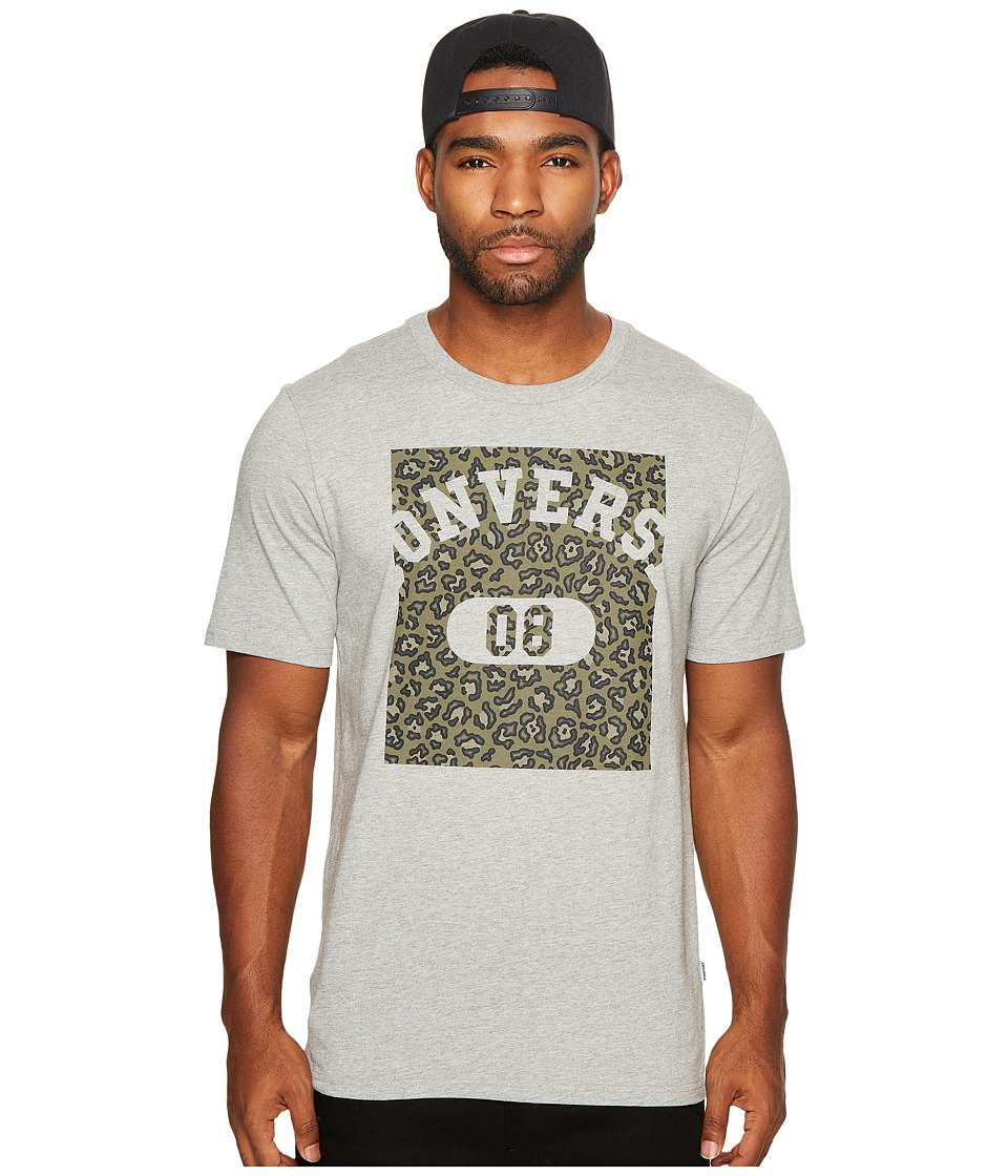 Converse Leopard Pill 08 Short Sleeve Tee (Vintage Grey Heather) Men