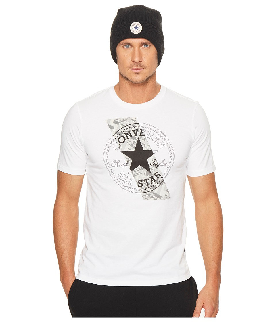 Converse Chuck Patch Contrast Short Sleeve Tee (White) Men