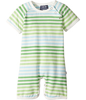 Toobydoo - Multi Green Stripe Shortie Jumpsuit (Infant)