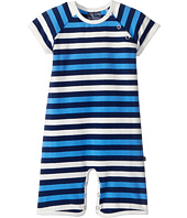 Toobydoo - Multi Blue Stripe Shortie Jumpsuit (Infant)