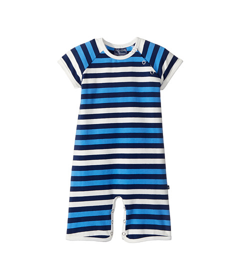Toobydoo Multi Blue Stripe Shortie Jumpsuit (Infant)