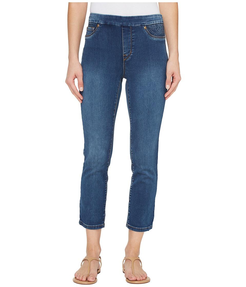 Tribal - Pull-On 25 Dream Jeans Capris in Retro Blue