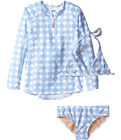 Toobydoo - Delft Blue Rashguard Set (Infant/Toddler/Little Kids/Big Kids)