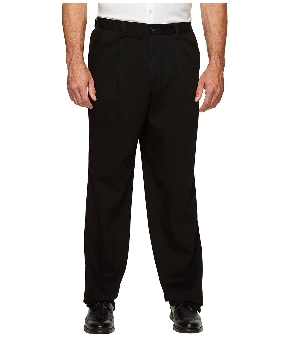 Dockers - Big Tall Easy Khaki Pleated Pants (Black) Mens Clothing
