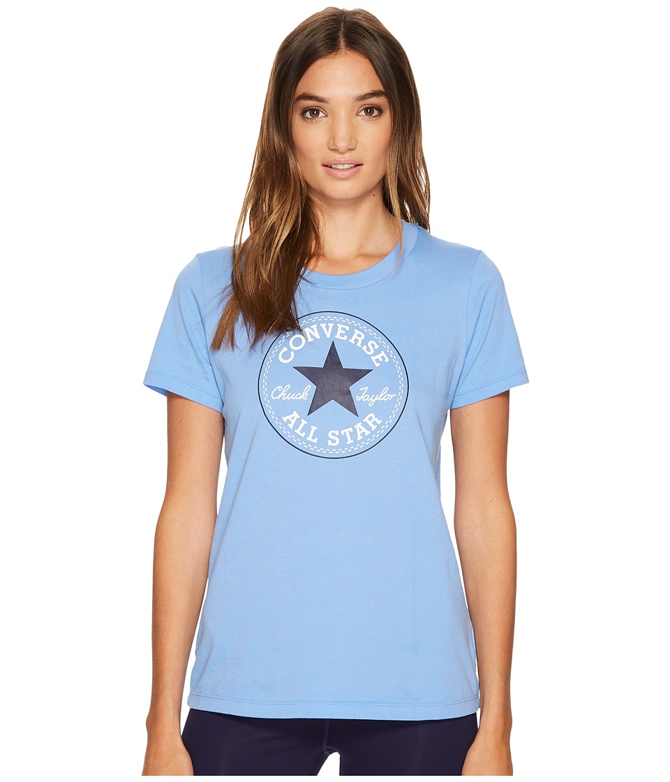 Converse Core Solid Short Sleeve Core Patch Crew Tee (Pioneer Blue) Women