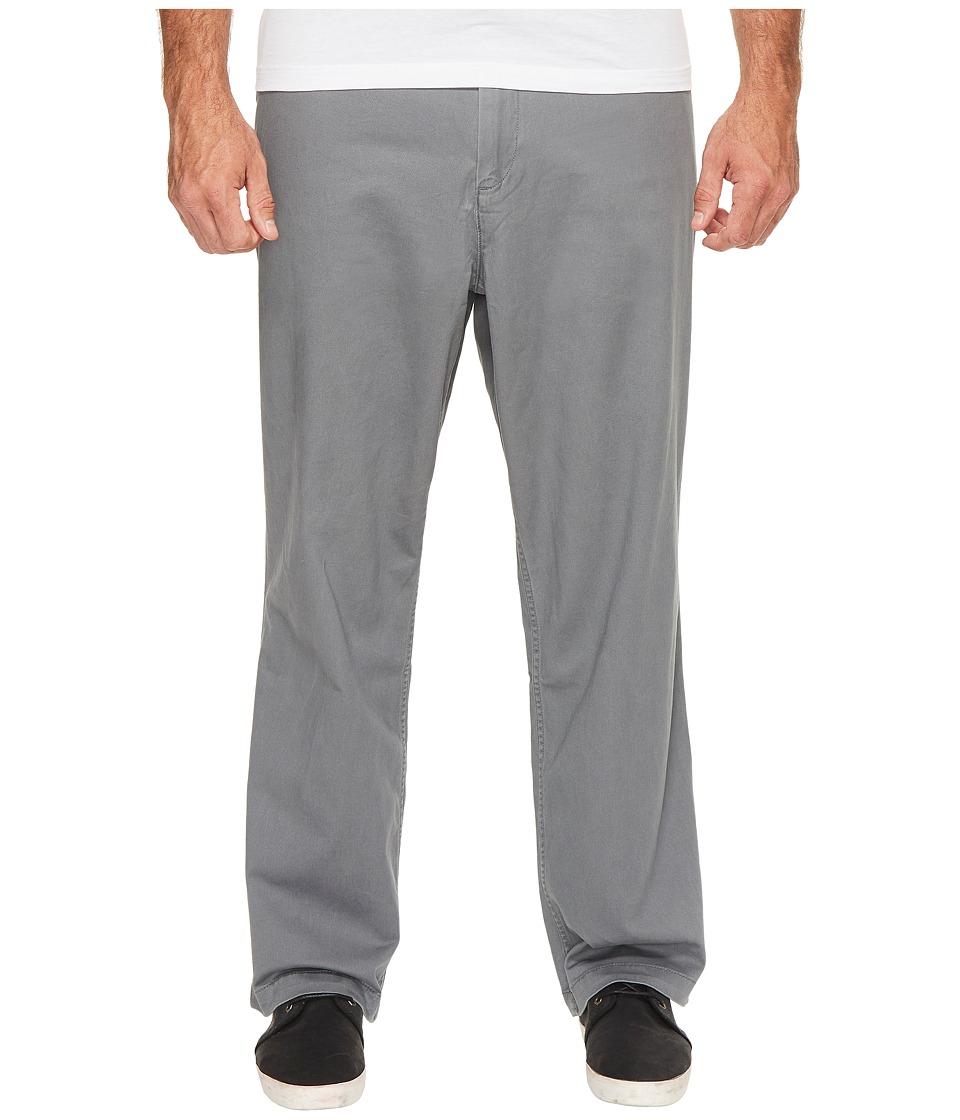 Dockers - Big Tall Washed Khaki Flat Front (Burma Grey) Mens Casual Pants