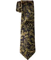 Cufflinks Inc. - Floral Rose Black Tie